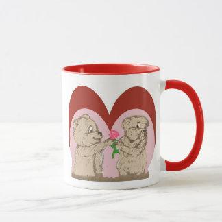 Fuzzy Bear Valentine Mug