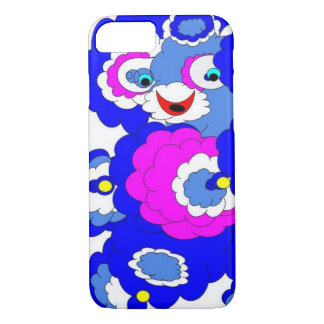 Fuzzy blue bear iPhone 8/7 case