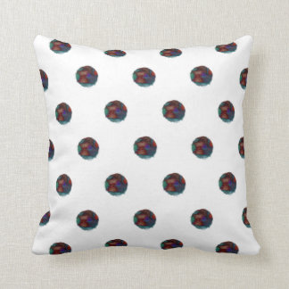 Fuzzy Blue Dots Cushion