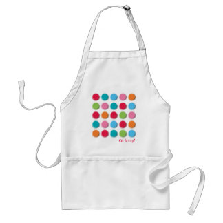Fuzzy Color Dots Fun Colorful Custom / Gift Apron