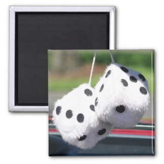 Fuzzy Dice Square Magnet