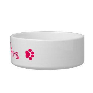 """Fuzzy Diva"" Cat Dish, Matches ""Fuzzless Diva"" Mug Cat Bowls"