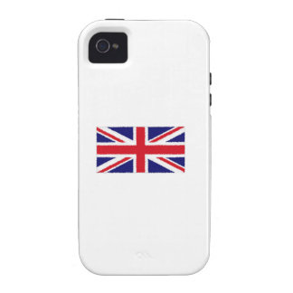 Fuzzy Edge Painted Union Jack Flag iPhone 4/4S Cases