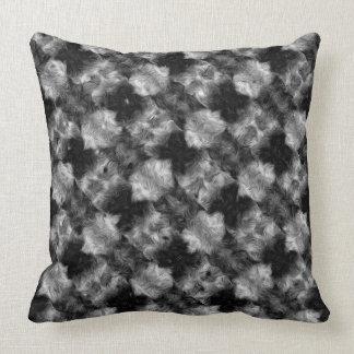 Fuzzy Faux Fur Checkered Pattern Throw Pillow