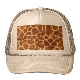 Fuzzy Giraffe Fur Pattern Cap