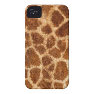 Fuzzy Giraffe Fur Pattern iPhone 4 Cover