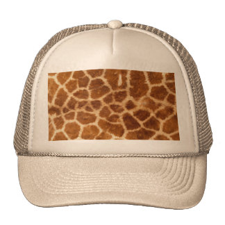 Fuzzy Giraffe Fur Pattern Mesh Hats