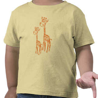Fuzzy Giraffe's T-Shirt for Toddlers