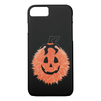 Fuzzy Halloween Pumpkin IPhone Case
