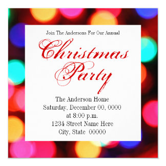 Fuzzy Lights Party Invitations