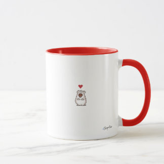 FUZZY LITTLE HEART by Boynton Mug