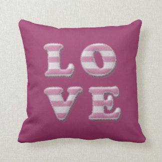 fuzzy love throw pillow