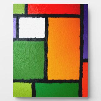 Fuzzy Mondrian #3 Photo Plaque