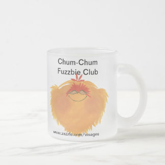 Fuzzy Monster Cartoon Character Frosted Glass Mug