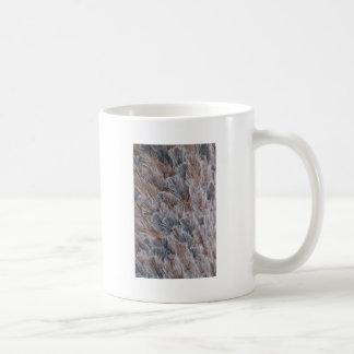 Fuzzy Natural Feather Pattern Coffee Mug