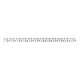 Fuzzy Pineapples Patterned Satin Ribbon
