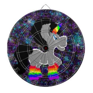Fuzzy rainbow space unicorn dartboard