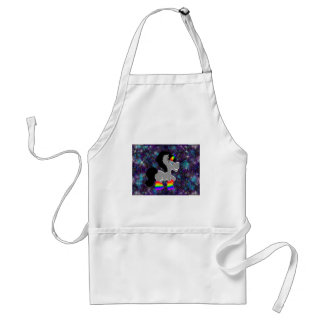 Fuzzy rainbow space unicorn standard apron