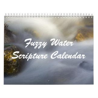 Fuzzy Water Scripture Calendar