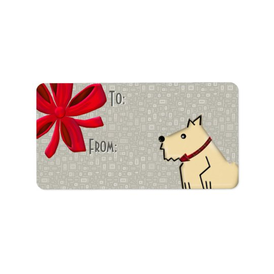 Fuzzy Wuzzy To-From Gift Tags Address Label