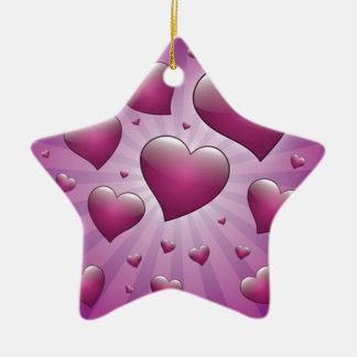 FVHWRV PURPLES RAYS HEARTS LOVE FRIENDSHIP FLIRTI CHRISTMAS TREE ORNAMENTS