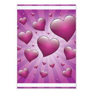 FVHWRV  PURPLES RAYS HEARTS LOVE FRIENDSHIP FLIRTI INVITE