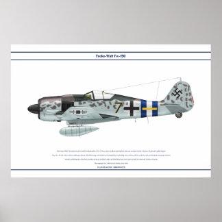 Fw-190 A-8 JG300 1 Poster