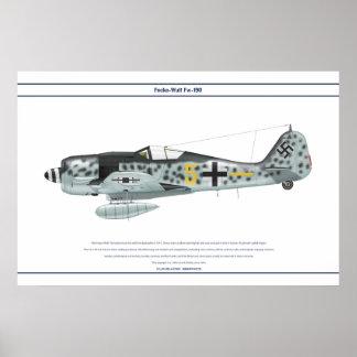 Fw-190 A-8 JG300 3 Poster