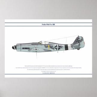Fw-190 D-9 JG26 1 Poster