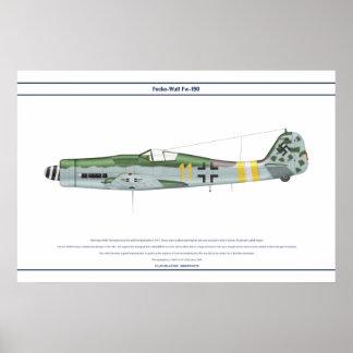 Fw-190 D-9 JG2 1 Poster