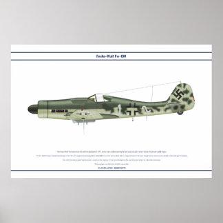 Fw-190 D-9 JG51 1 Poster