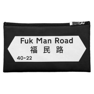 Fxx Man Road, Hong Kong Street Sign Makeup Bags