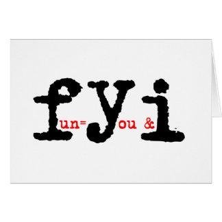 fyi card