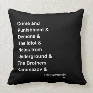 Fyodor Dostoyevsky Cushion
