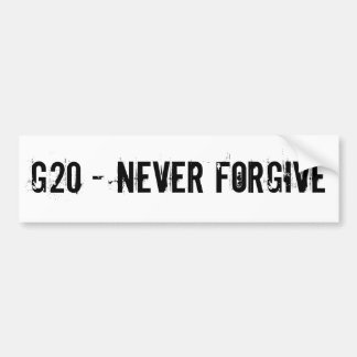 G20 BUMPER STICKER