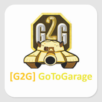 G2G clan Square Sticker