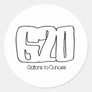 G2O White Sticker