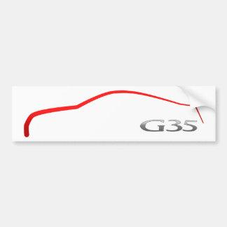 G35 Outline Bumper Sticker