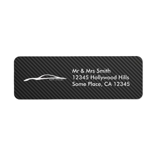 G37 Coupe (White / Faux Carbon Fibre) Return Address Label