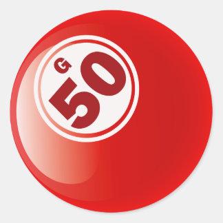 G 50 BINGO BALL CLASSIC ROUND STICKER