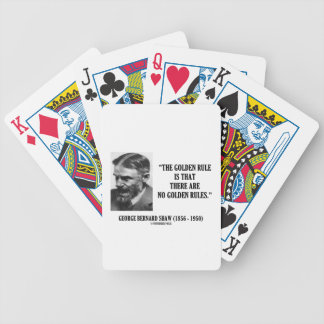 G. B. Shaw Golden Rule No Golden Rules Quote Card Deck
