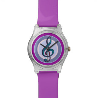 G clef music note watch