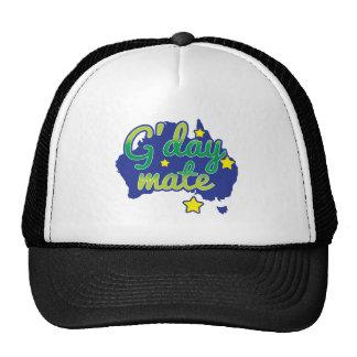 G DAY Mate Australian Greeting hello Hats