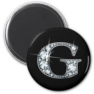 """G"" Diamond Bling Magnet"