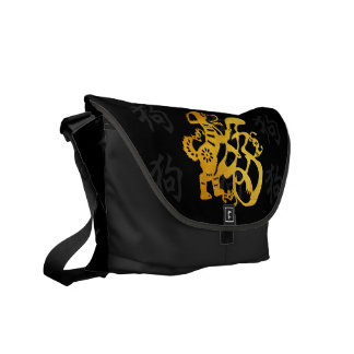 G Dog Papercut Symbol Chinese New Year 2018 Bag Courier Bags