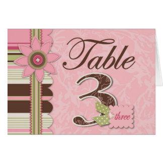 G Girl Table Card 3
