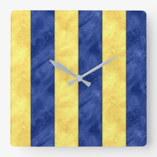 G Golf Watercolor Nautical Signal Maritime Flag Square Wall Clock