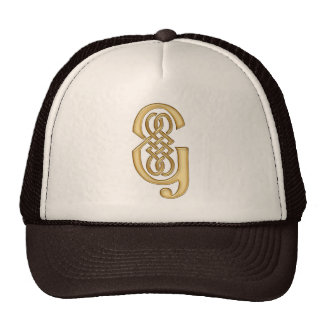 G Initial-Branded Personalised Fashion Hat