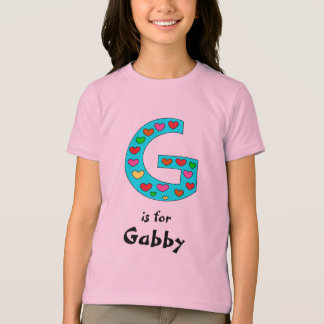 G Initial Letter Personalized Girl's Name Fun T-Shirt