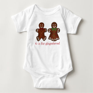 G is for Gingerbread Man Lady Christmas Cookie Baby Bodysuit